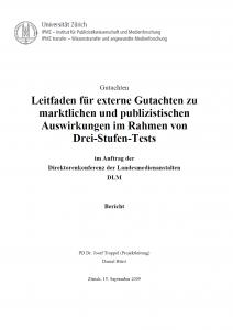 Titel: Leitfaden für externe Gutachten zu marktlichen und publizistischen Auswirkungen im Rahmen von Drei-Stufen-Tests