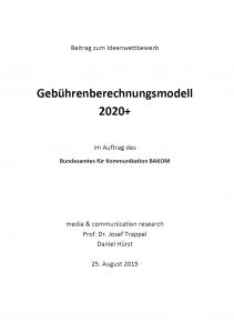 Titel: Gebührenberechnungsmodell 2020+
