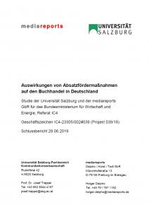 Titel: Auswirkungen von Absatzfördermaßnahmen auf den Buchhandel in Deutschland