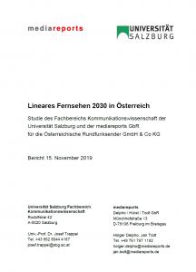 Titel: Lineares Fernsehen 2030 in Österreich